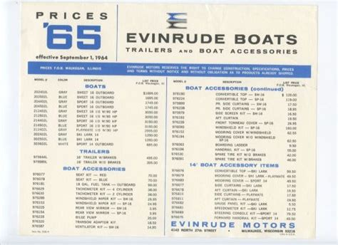 boat trailer parts minnesota sell evinrude boat trailers accessories price list 1965