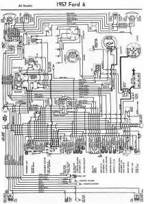 ford 6 cylinder all models 1957 wiring diagram all about wiring diagrams