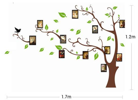 Sticker Wallpaper Dinding Family Tree memory tree photo frame wall stickers wallstickerdeal