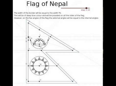 the flag of nepal in geogebra youtube