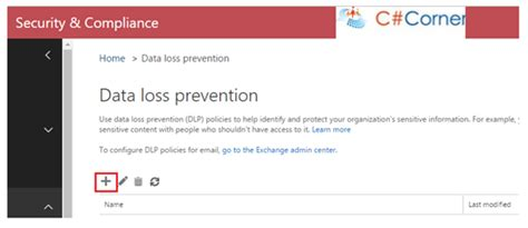 Implement Data Loss Prevention Dlp In Sharepoint Online Technet Articles United States Data Loss Prevention Policy Template