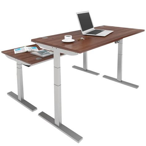 Height Adjustable Office Desk Manual Wave Height