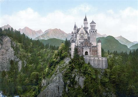 File:Neuschwanstein Castle LOC print   Wikimedia Commons