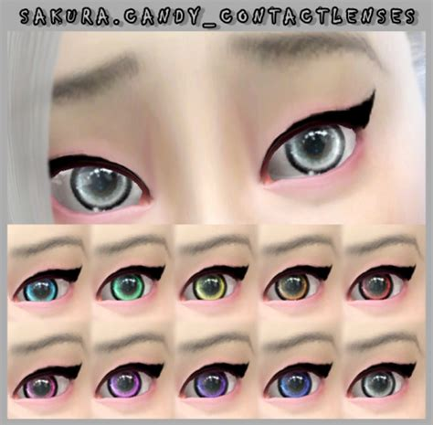 sims 4 cc sclera contact decay clown sims candy contact lenses sims 4 downloads