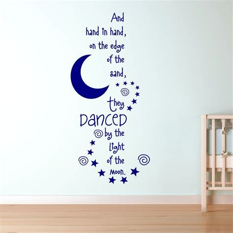 nursery wall stickers ebay the owl and the pussycat nursery rhyme vinyl wall sticker