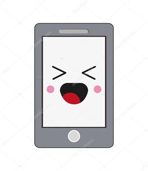 imagenes kawaii para celular icono de celular kawaii vector de stock 169 jemastock