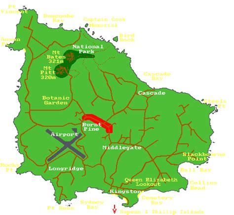 norfolk island map norfolk island s p