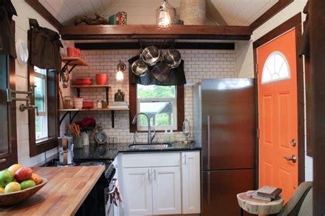 teeny tiny kitchens packed  character hgtvs