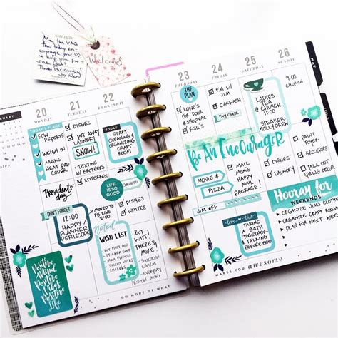 agenda layout inspiration 102 likes 17 comments angie colourmeblessed on