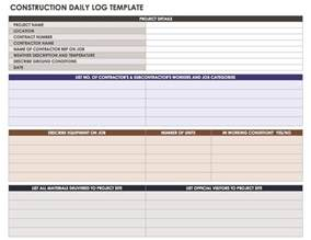 Daily Construction Log Template by Construction Daily Reports Templates Or Software Smartsheet
