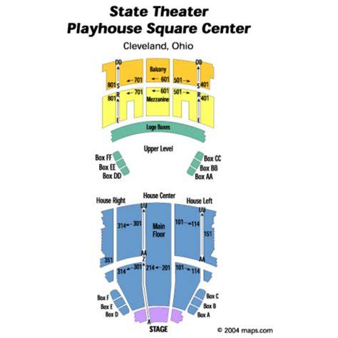 playhouse square seating hamilton state theatre playhouse square center seating chart state