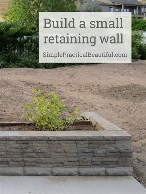 small backyard retaining wall a small retaining wall simple practical beautiful