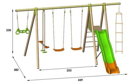 Portique en bois balançoire et toboggan   Sélection de modèles