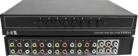 Rayden Av Rca Switcher 8 port av switch rca audio selector 8 in 2 out