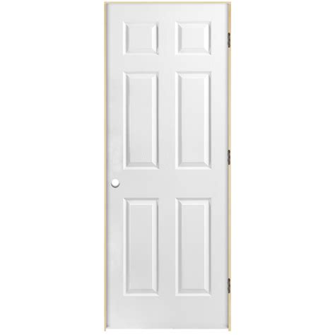 Interior Doors At Lowes Shop Reliabilt Prehung Hollow Core 6 Panel Interior Door