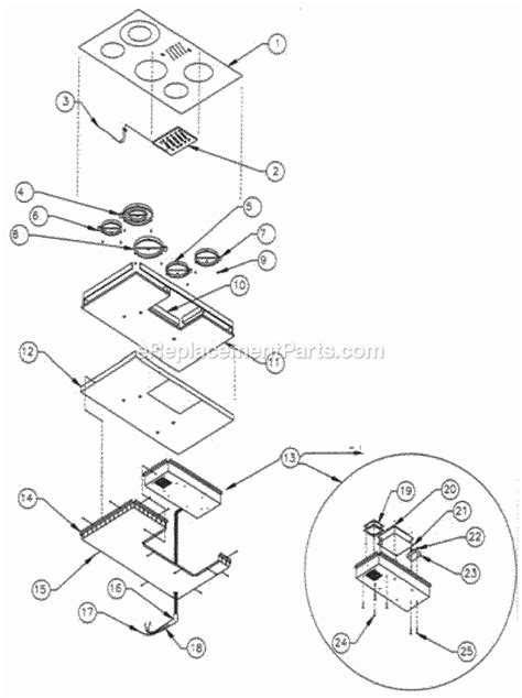 dacor cooktop replacement parts dacor ett365 parts list and diagram ereplacementparts