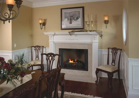 Small Kitchen Dining Room Decorating Ideas traditional white fireplace mantel