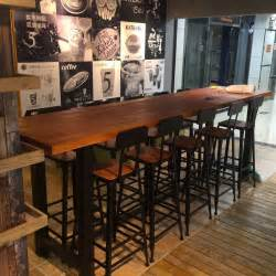 American restaurant retro bar tall bar tables and chairs wrought iron