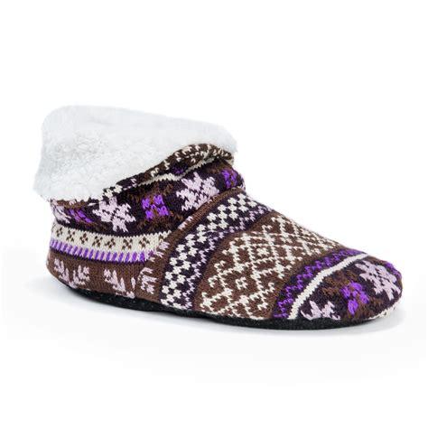 slipper booties muk luks 174 s bootie slippers plum slippers