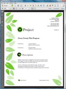 environmental program sample proposal