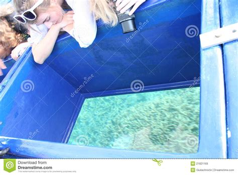 boat driving over boat glass bottom boat editorial stock image image 21821169