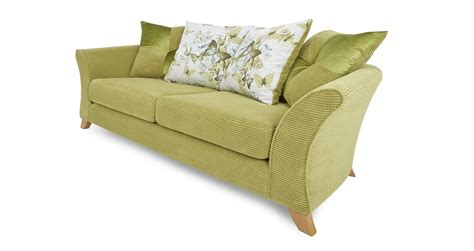 dfs green sofa dfs corinne lime green fabric 3 seater pillow back sofa ebay
