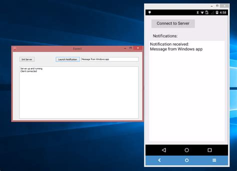 android service windows and beyond connecting a windows application with an android service