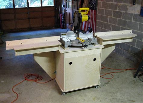 chop saw bench designs miter saw stand adding the fences jeff branch woodworking