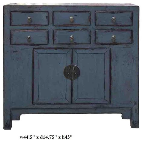 Gray Blue Lacquer Oriental Sideboard Buffet Table Asian Sideboards And Buffets