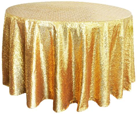 gold sequin table cover linens 132 quot