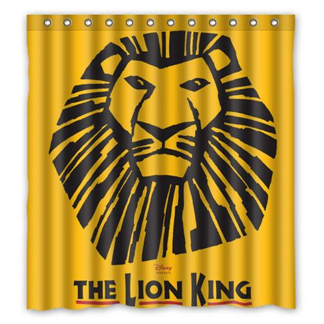 lion king curtains the lion king musical broadway shower curtain creativgoods