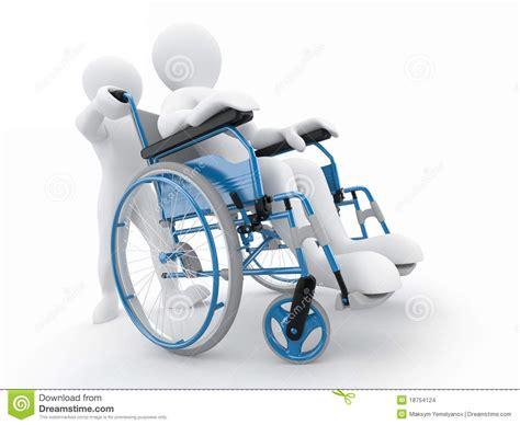 sulla sedia uomini sulla sedia a rotelle illustrazione di stock