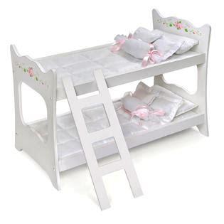 Badger Toys Doll Bunk Beds Badger Basket White Doll Bunk Bed Toys Dolls Accessories Baby Dolls