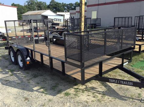 2016 c 6 4 quot x16 utility trailer with basket we