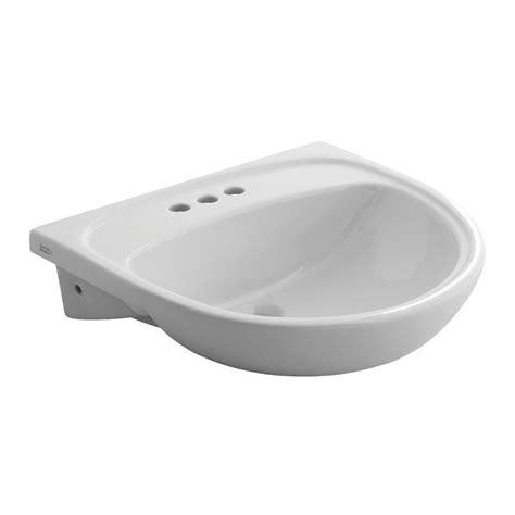 home depot drop in bathroom sinks american standard mezzo drop in semi countertop bathroom