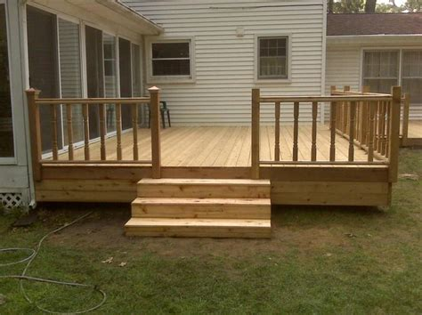 simple backyard deck ideas image gallery simple decks