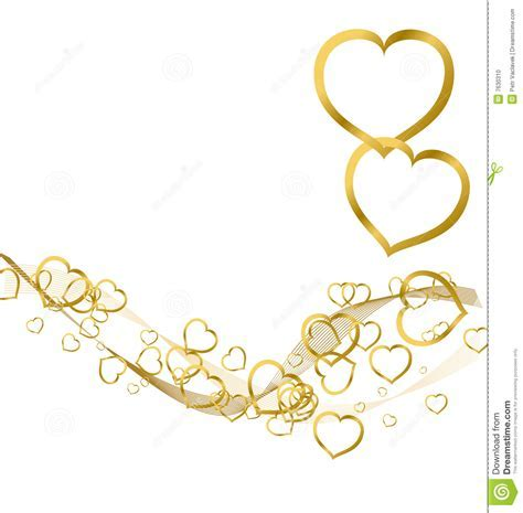Background With Golden Hearts Stock Vector   Image: 7630310