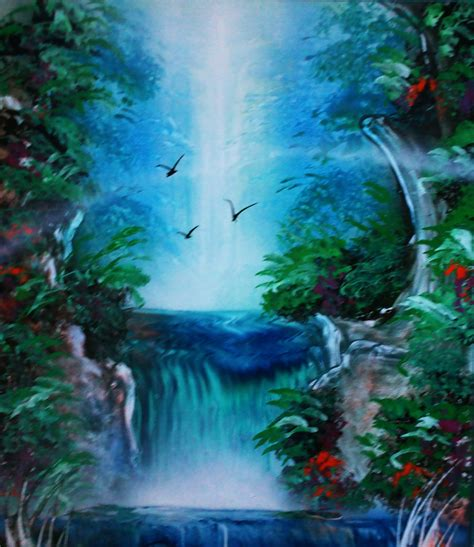 Painting Waterfalls With Spray Paint Spray Painting