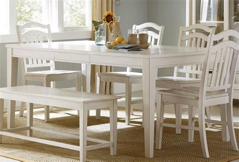 white dining room table set summerhill cottage white finish casual dining table set