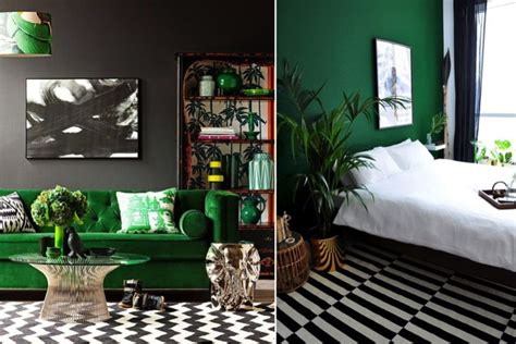 dark green  interior trend
