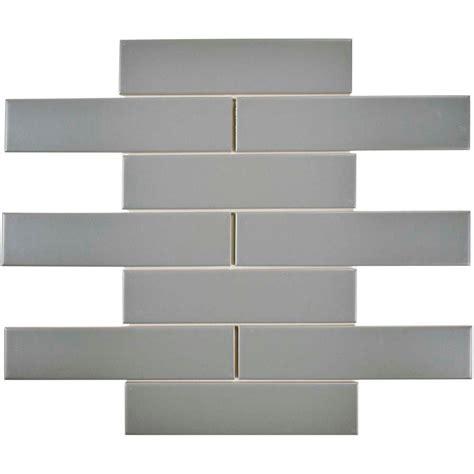 light gray ceramic subway tile merola tile metro soho subway matte light grey 1 3 4 in x