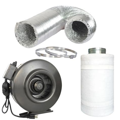 carbon filter exhaust fan hydro crunch 188 cfm 4 in centrifugal inline duct fan
