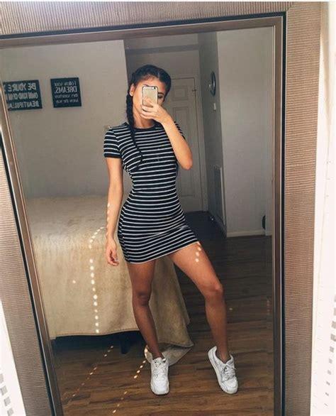 Stripes Shirt B L F dress bodycon stripes stripes black white