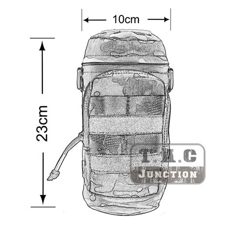 Emerson Bottle Pouch Black emerson tactical molle h2o hydration water bottle carrier