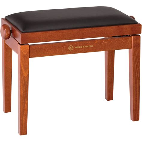 wooden piano bench k m 13740 piano bench wooden frame with cherry 13740 000 28 b h