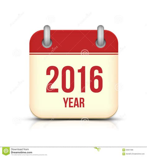 new year 2016 year of the new year 2016 calendar icon stock vector image 59327486