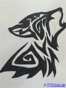 front neck tattoos how to draw a howling tribal wolf step by step tattoos pop culture free online drawing