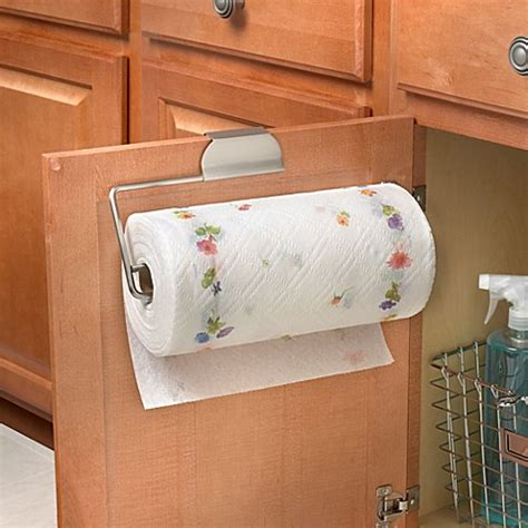 cabinet door paper towel holder spectrum over the cabinet door paper towel holder in