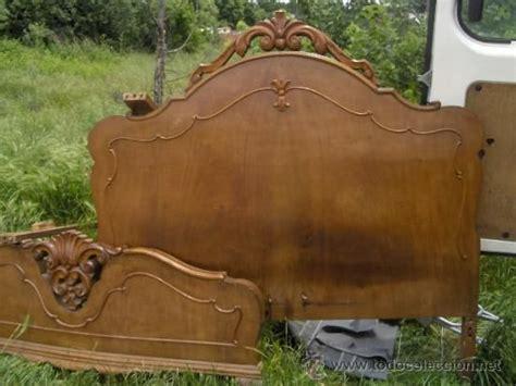 cama antigua de madera antigua cama de madera valenciana con largueros