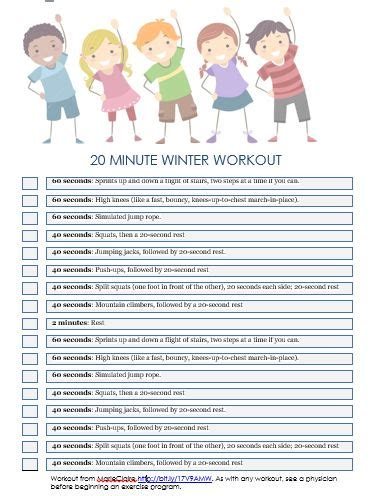 best 25 workout ideas on kid exercise